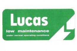 "カー ステッカー Lucas ""Low Maintenance Battery"""