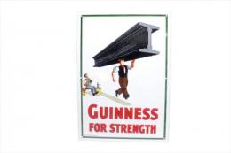 GUINNESS FOR STRENGTH ENAMEL SIGN