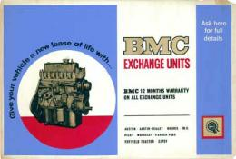 BMC EXCHANGE UNITS (BMC SHOW ROOM POSTER)