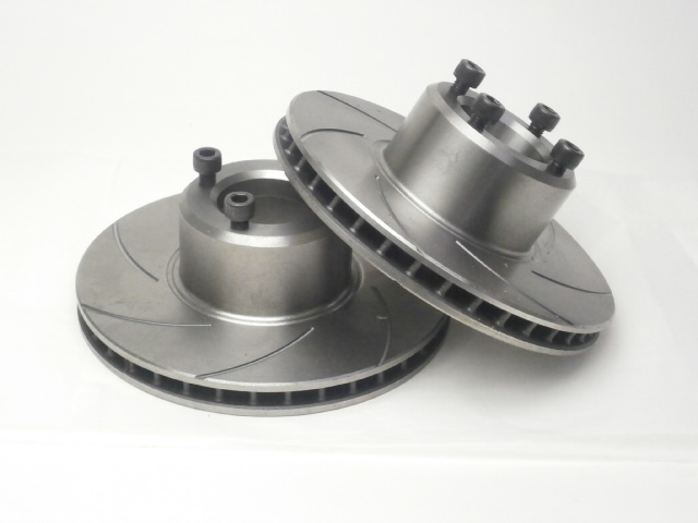 Mini Brake Discs - 4 Pot - Vented - Grooved Face …