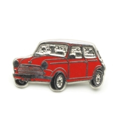 ピンバッジ MINI Saloon Red