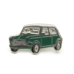 ピンバッジ MINI Saloon Green