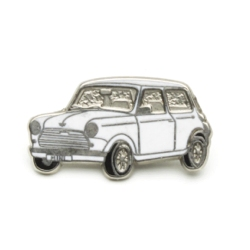 ピンバッジ MINI Saloon White