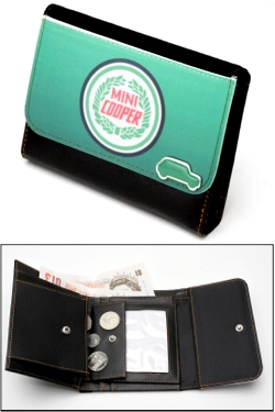MINI COOPER GREEN LAURELS WALLET