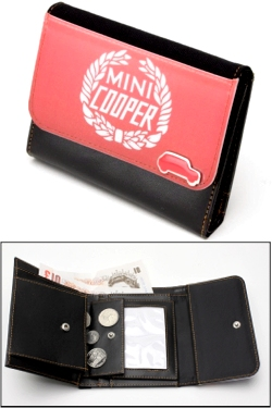 MINI COOPER RED LAURELS WALLET