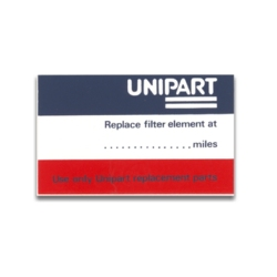 UNIPART FILTER DECAL